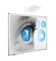 Whiteboard Magnetic Ceramic SMIT 120x200 cm (16:10) Single surface