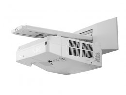 Videoproiector NEC UM301W, Ultra Short Throw, WXGA 1280 x 800, 3000 lumeni, 4000:1, cadou modul Wireless + Suport perete