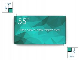 "Display 55"" Ultra Matrix Videowall FULL HD, bezel 3.5mm"