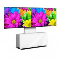 Mobilier Videoconferinta Double cu stand Vogel's PVF4112 Alb, max.65""