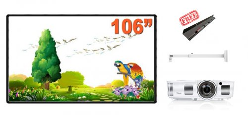 Pachet cu Videoproiector OPTOMA GT1080e, Tabla interactiva EVOBOARD IB106, Suport proiector CT-PRB-8M si IPENTRAY cadou