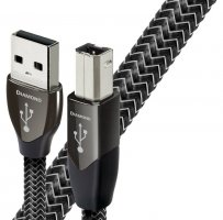 Cablu USB A-B AudioQuest Diamond 1.5m, DBS Black, Solid 100% Silver