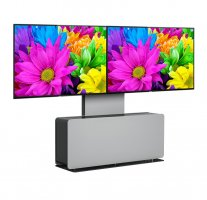 Mobilier Videoconferinta Double cu stand Vogel's PVF4112 Gri, max.65""