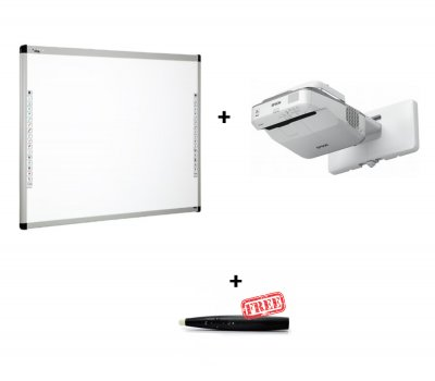 Pachet interactiv cu videoproiector Epson EB-685W si Tabla interactiva DONVIEW 100IND si EVOBOARD IPEN cadou