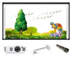 Pachet interactiv cu Optoma Short Throw GT1080E, tabla interactiva EVOBOARD 2C96, suport PRB-11M si tavita cadou