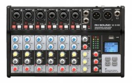 Mixer 8 canale RH SOUND SE8 ME, 6 mono + 1 stereo) cu player si recorder USB, Bluetooth