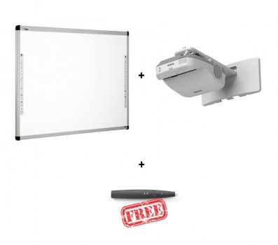 Pachet interactiv cu videoproiector Epson EB-680 si Tabla interactiva DONVIEW 86IND si EVOBOARD IPEN cadou
