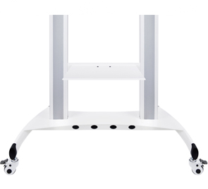 Polita stand podea Public HD pentru DVD player Multibrackets 7570, TV-tunner etc., Alb, max.5 kg.