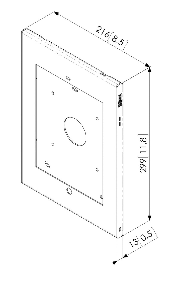 RESIGILAT  Carcasa de siguranta TabLock Vogels PTS1213 pentru iPad Air, cu accesibilitate la butonul home