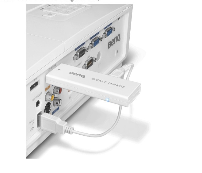 Adaptor Wireless BenQ Qcast Mirror QP20 2.4-5G HDMI