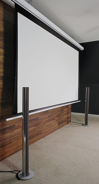 Ecran proiectie electricTENSIONAT EliteScreen Saker  SKT135XHW-E6,marime vizibila: 299 x 168cm,carcasa alba, Format 16:9