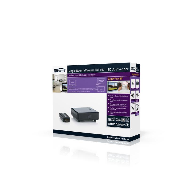 Extender HDMI FULL HD + 3D wireless Marmitek GigaView 811 / Los 10m / indirect 5m