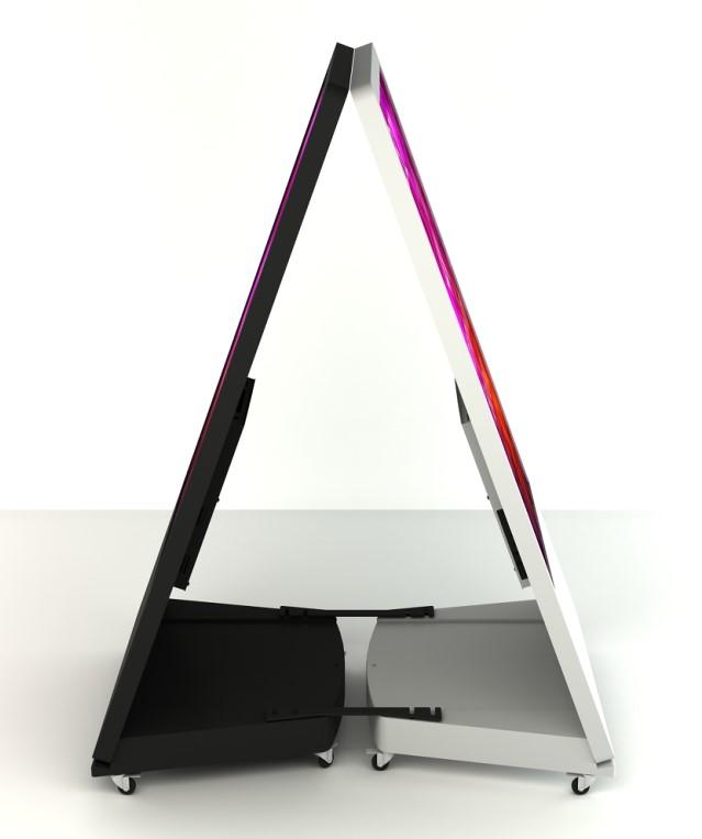 Stand Kiosk/Totem SWEDX Sandwich Board 32 4K IN 4K OUT, SWSB32K8-A1, Alb
