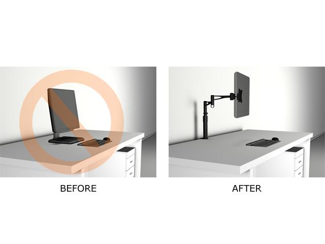 Suport monitor/LCD birou VESA III Multibrackets 0946, Argintiu,  15-24, max. 10kg