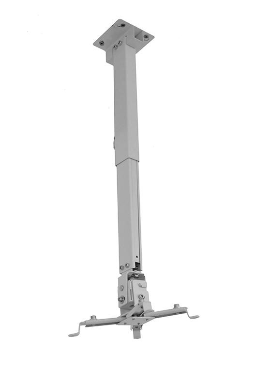 Suport videoproiector tavan EATV2, alb, reglabil, 43-65 cm