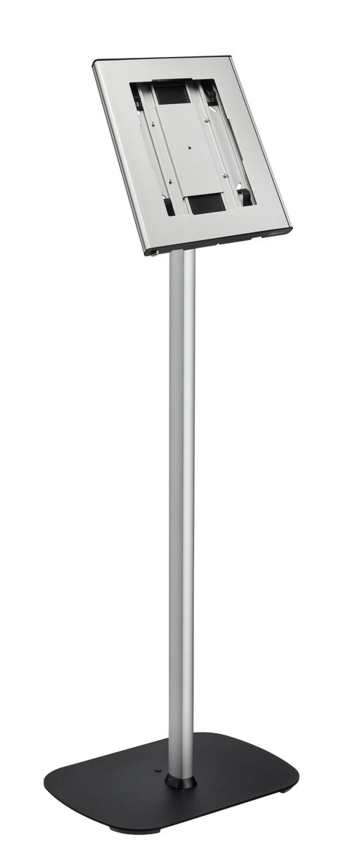Stand podea + suport din aluminiu Vogels pentru tablete cu dimensiunile de minim 236x166x3mm si maxim 285x186x10mm