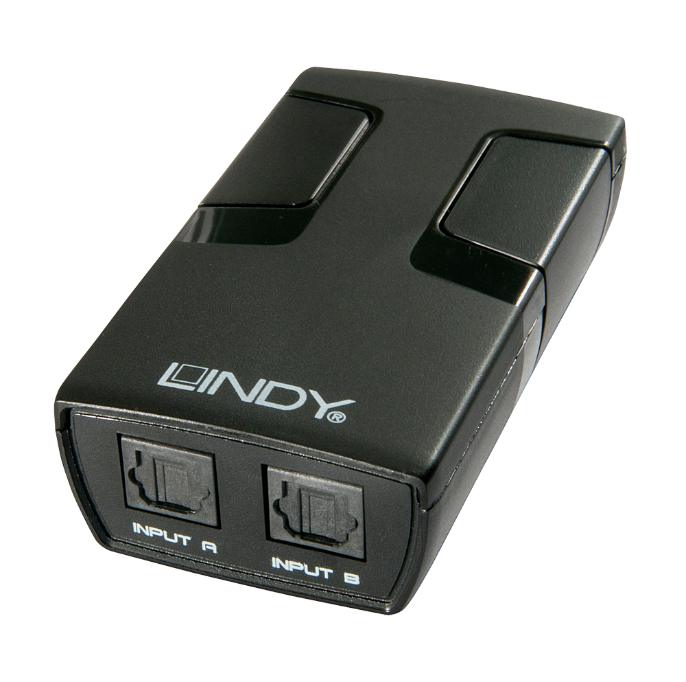 Switch Toslink (optic) automatic 2 porturi, Lindy